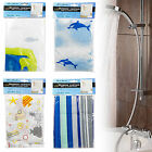 12 Hole Shower Bath Curtain Cover Water Splash Proof 12 Hook Rings Polyester New
