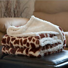 Soft Fuzzy Warm Cozy Throw Blanket with Sherpa Backing - 50x60 5 Animals