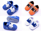 Baby Boy Soft Sole Crib Shoes Sneakers 3 color choices Size 0-18 Months