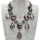 Fashion Jewrley Charm Chain Glass Crystal Collar Statement Pendant Bib Necklace