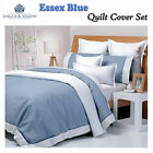 Essex Blue Quilt / Duvet / Doona Cover Set by Logan & Mason - Choose QUEEN KING