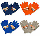 Boys Childrens Official Disney Planes Magic Gloves Orange Navy Blue Grey New
