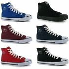 Dunlop Mens Canvas High Top Lace Up Trainers Sports Shoes