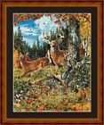 DEER -  14 COUNT CROSS STITCH CHART (DMC THREADS) FREE PP WORLDWIDE