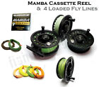 MAMBA Cassette Fly & Trout Fishing Reel & 4x Loaded Lines (SINK-TIP) RRP £99!!