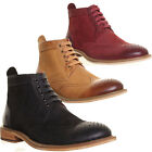 12091 Justin Reece Design Real Soft Leather Brogue Hand Made Boots Lace up Casua