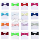 50 Stretch Chair Cover Bands With Buckle Slider Replace Chair Sash Bow Colors