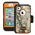 NEW!! OtterBox Defender Case for iPhone 4S & 4 w / Holster Clip REALTREE CAMO