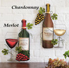 Collections Etc Wine Bottle Metal Wall Art
