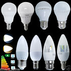 6 x 3W 5W E14 E27 B22 B15 LED Candle Bulbs SMDs ES Bayonet Globe Bulb Spot Light