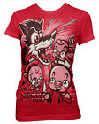 Darkside Clothing Three Little Pigs Wolf Cartoon Red Short Sleeved Tshirt