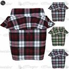 New Womens Ladies Tartan Check Printed Peplum Frill Bodycon Mini Skirt Plus Size