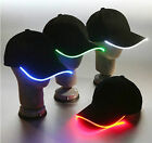 Fashion LED Lighted Glow Club Party Sports Athletic Black Fabric Travel Hat Cap
