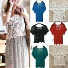 AU SELLER Bohemian Vintage Eyelet Crochet Lace Top Bikini Cover Up t098-2