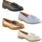 Ladies Women Flat Casual Loafers Borgues School Office Pumps Tassel Fringe Shoes