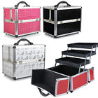 Beauty Make up Nail Art Tech Cosmetic Box Vanity Case Salon Storage Trays Bag