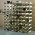 WINE RACK 72 BOTTLE CLASSIC WOOD AND METAL DESIGN