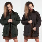 NEW WAX JACKET GREEN BROWN COUNTRY HACK OVERSIZE HIPSTER ZIP FASTEN