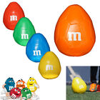 M&M's ORIGINAL RARE M-BALL EASTER EGG SHAPED SOFT PLUSH AMERICAN FOOTBALL TOY