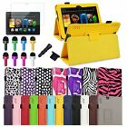 """Folio Leather Stand Case Cover+Film For Amazon Kindle Fire HDX 7 7"""" 2013 Tablet"""