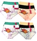 6 Womens LOVE PRINTS COTTON Thongs V-G-string Lingerie Lot Underwear LP1377 S~XL