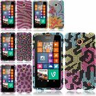 Bling Diamond Rhinestone Hard Snap-On Case Cover For Nokia Lumia 635 T-Mobile