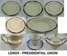 LENOX Presidential Union Dark Green Teal China Dishes Coffee Cups Plates SELECT