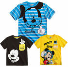 Boys Mickey Mouse T Shirt Kids Disney Tee Short Sleeve Top Age 3 4 5 6 8 Years