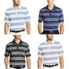 adidas Golf Taylormade Men's Puremotion Heather 3-Stripes Polo Shirt
