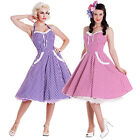 Hell Bunny Charlotte Gingham Rockabilly Vintage Inspired 50s Party Prom Dress