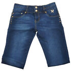 Bonage Fashion Designer Women's Skinny Denim Blue Jeans w/ Butterfly Accent