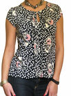 New Blouse Ladies Top Shirt Chiffon Cap Sleeve Loose Tops Size 8 10 12 14 16 18