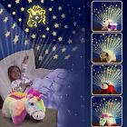 KIDS SOFT TOY CUDDLE PET DREAM PILLOW CUSHION WITH STARRY SKY NIGHT LIGHT LITES
