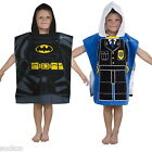 Official Lego City Heroes Poncho Hooded Towel Official New Gift DC Batman