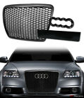 For+2008%2D2011+Audi+A6+S6+Black+Rs%2DSport+Honeycomb+Mesh+Front+Hood+Bumper+Grille