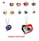 NFL Football Swirl Heart Necklace Pick Your Team $7.49 USD on eBay