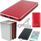 Portable 25000mAh Dual USB External Battery Power Bank Charger For Phone Tablet