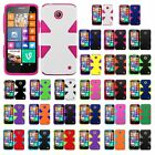 For Nokia Lumia 635 - Hard + Silicone Rugged Dual Layer Cover Phone Case