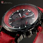 Blacktip Shark Mens 4 Colours Chronograph 24 Hours Sport Quartz Wrist Watch +Box