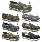 Hey Dude FARTY Mens Soft Padded Casual Comfy Canvas Denim Slip On Wide Fit Shoes