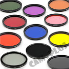 55mm Color Blue Brown Purple Pink Red Green Yellow ND Grey Camera Lens Filter