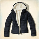 HOLLISTER WOMEN'S NORTH JETTY PUFFER JACKET SIZES XS, S, M