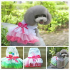 Summer Various Pet Puppy Small Dog Cat Lace Kiss Bow Knot Dress Apparel Clothes