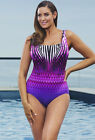 "LONGITUDE Plus Size Purple ""Allure"" Tank Swimsuit *NWT $99"