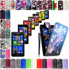 Flip Leather Magnetic Case Cover For Nokia Lumia Mobile Phones+Free Guard+Stylus