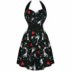 Hell Bunny Black Zombie Pinup Goth Rockabilly Vintage 50s Mini Party Dress