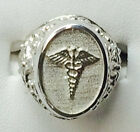 925. Sterling Silver Caduceus Medical Symbol ladies Ring available size 6-10
