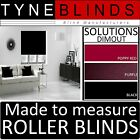 ROLLER BLINDS - straight edge SOLUTIONS DIMOUT fabric - made to your exact size.