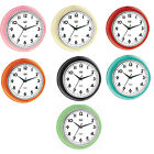 Trevi Retro Wall Clock Silent Ticking 24.5cm 7 Colours Available  FREE DELIVERY