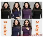 Womens' Turtleneck Slim Dots Leaves Blouse Tops Delicate Long Sleeve Tee Shirts